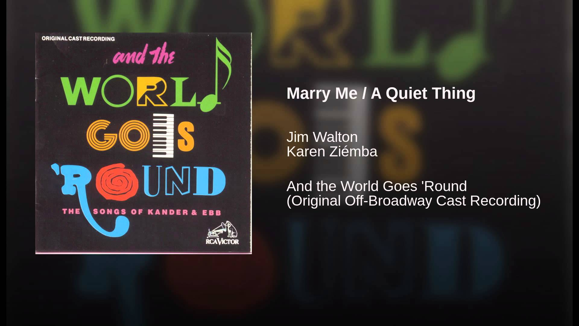 Kander & Ebb:  Marry Me / A Quiet Thing