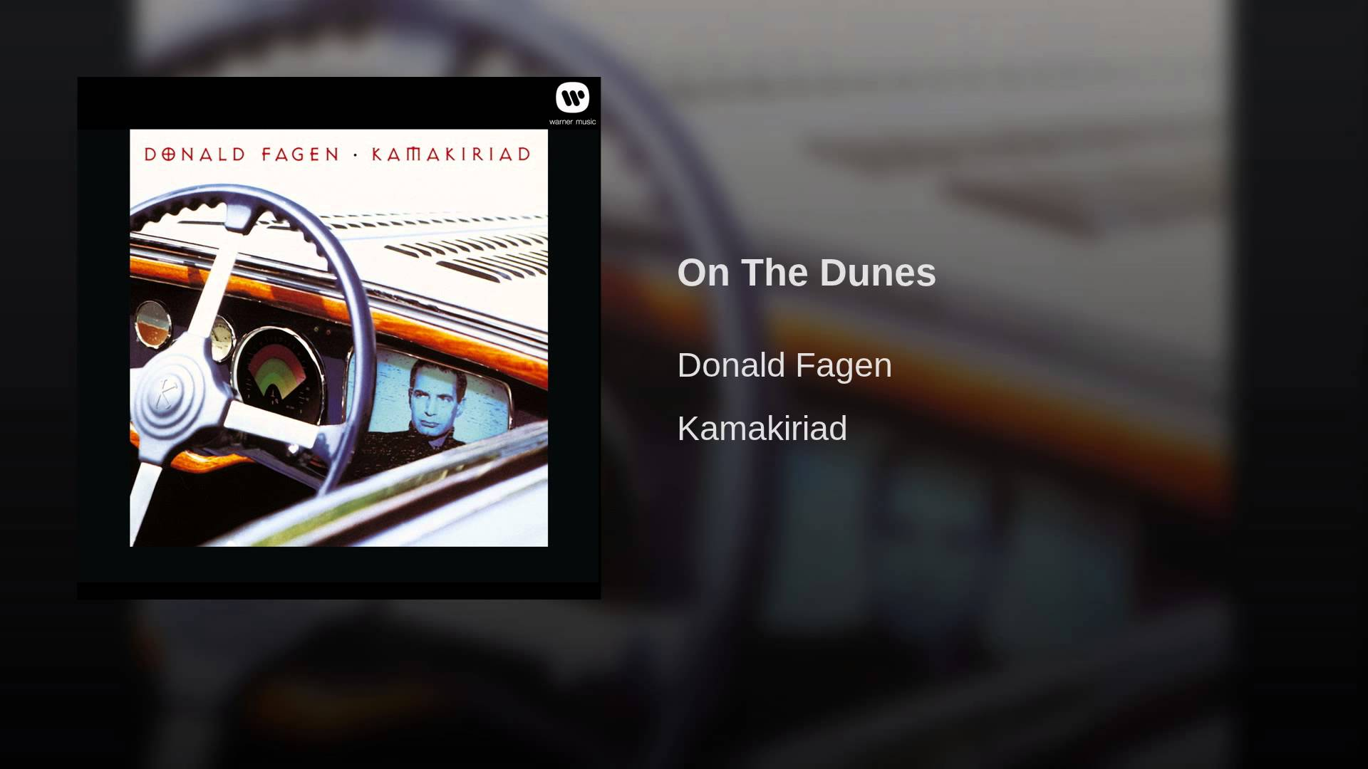 Donald Fagen:  On the Dunes