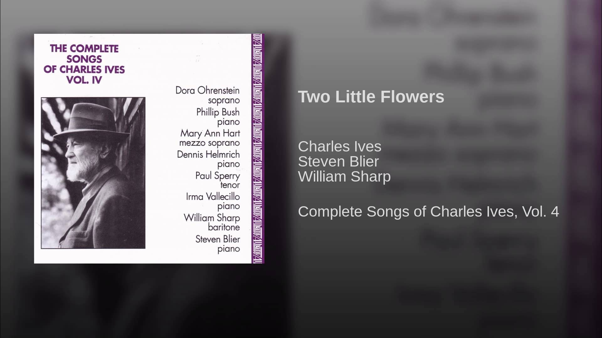 Charles Ives:  Two Little Flowers