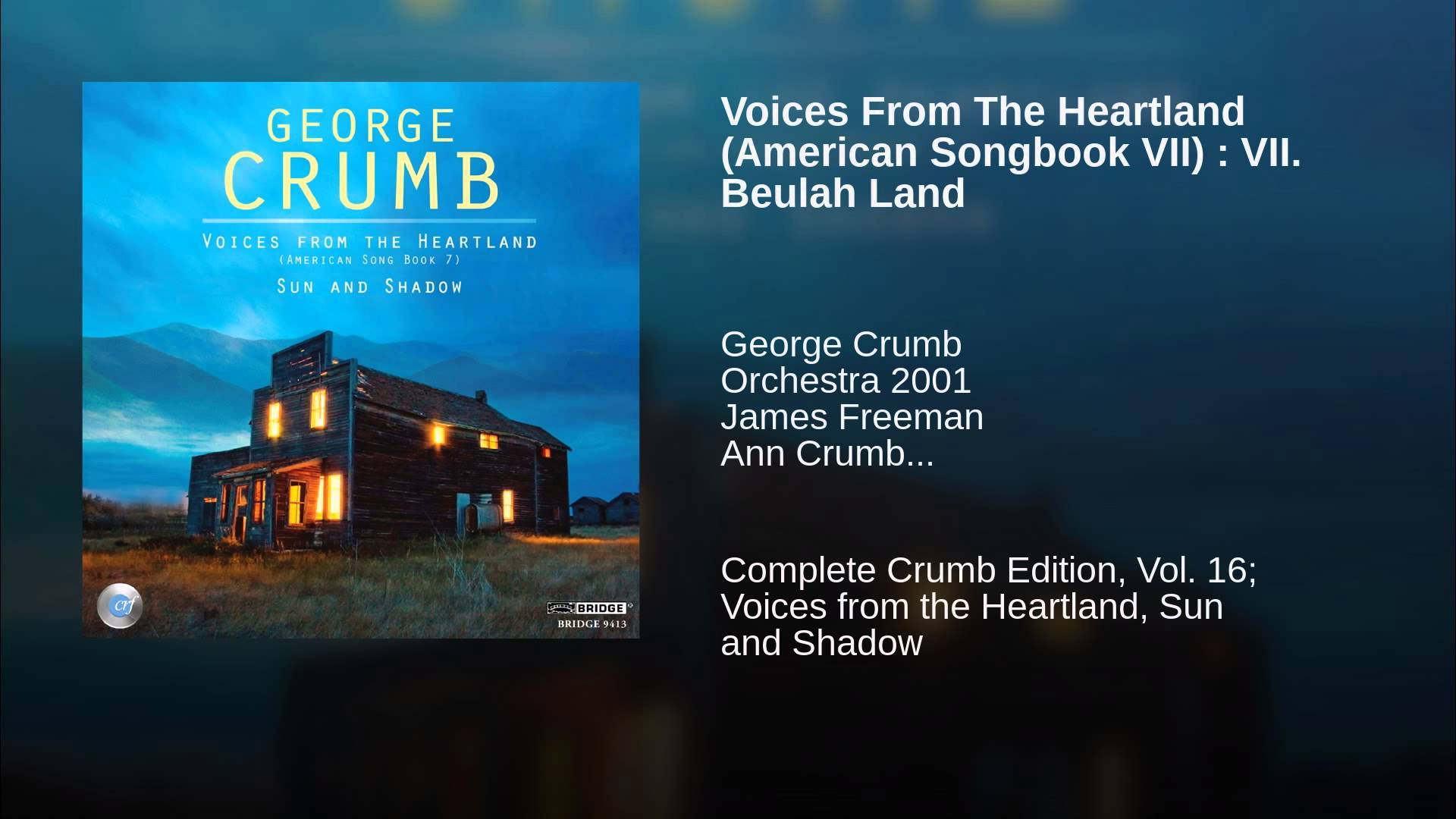 George Crumb:  Beulah Land