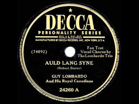 """Guy Lombardo and His Royal Canadians play """"Auld Lang Syne"""""""