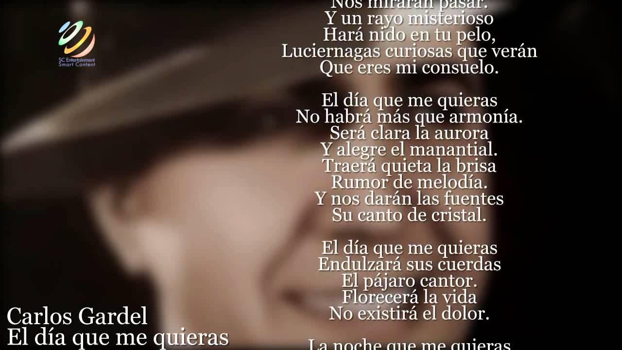 Carlos Gardel:  El día que me quieras