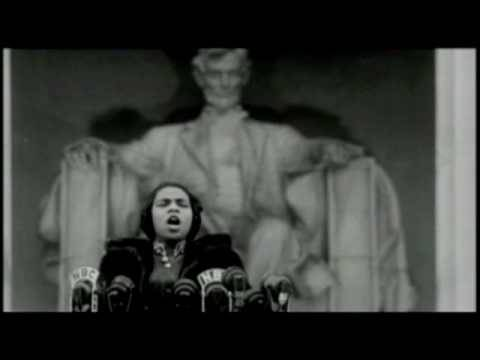 """Marian Anderson sings """"My Country, 'Tis of Thee"""""""