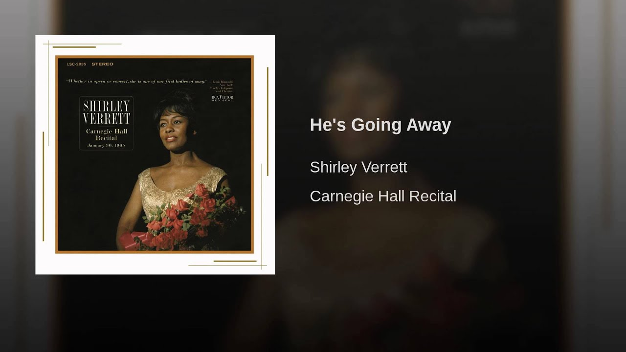"Shirley Verrett sings ""He's Going Away"""